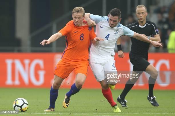 Frenkie de Jong of Holland U21 Lewis Cook of England U21 during the EURO U21 2017 qualifying match between Netherlands U21 and England U21 at the...