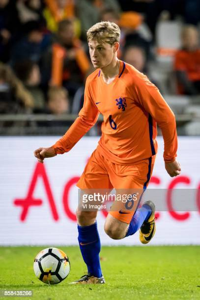 Frenkie de Jong of Jong Oranje during the EURO U21 2017 qualifying match between Netherlands U21 and Latvia U21 at the Vijverberg stadium on October...