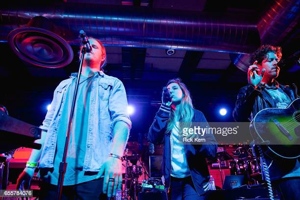 Frenship take the stage at 800 Congress Ave during the Bud Light x The Roots Friends Jam Session Bud Light Americas most popular and inclusive beer...