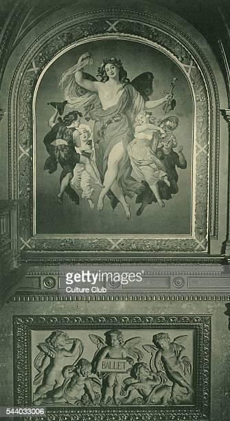 Fresco from Grand Opera House in Vienna on theme of Ballet Dobiaschofsky Franz Joseph 23 November 1818 in Vienna 7 December 1867
