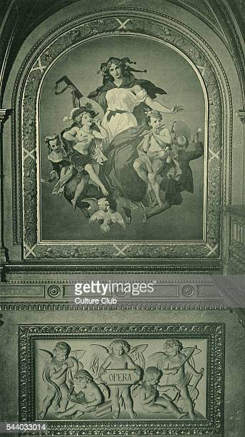Fresco from Grand Opera House in Vienna on theme of Opera Dobiaschofsky Franz Joseph 23 November 1818 in Vienna 7 December 1867
