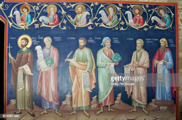 Fresco in Great Meteoron Monastery.
