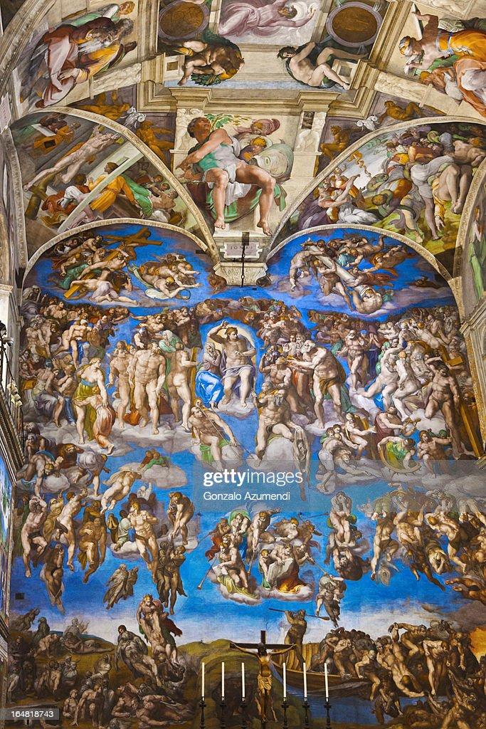 Fresco in the Sistine Chapel.