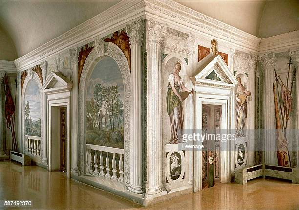 Fresco Paintings by Veronese from Fresco and Stucco Cycle at Villa Barbaro