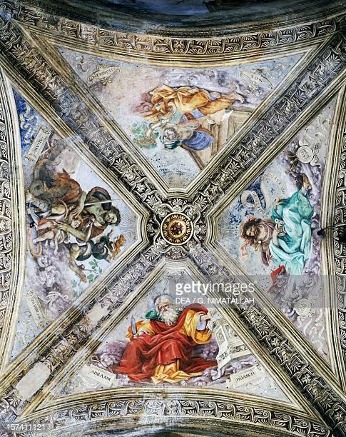 Frescoes by Filippino Lippi on the dome Strozzi Chapel Church of Santa Maria Novella Florence Italy 15th16th century