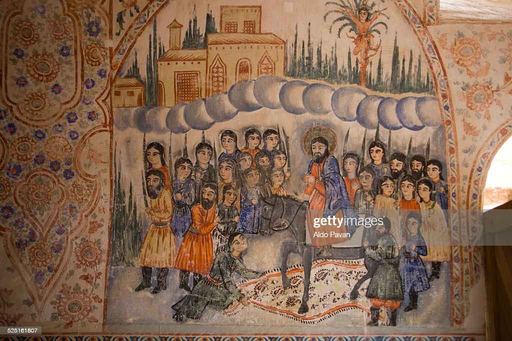 Frescos inside the church of Surb Sarghis