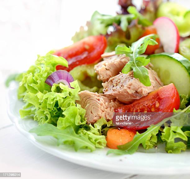 A fresh and colorful tuna salad