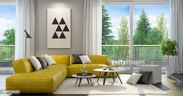 Fresh and modern style living room interior
