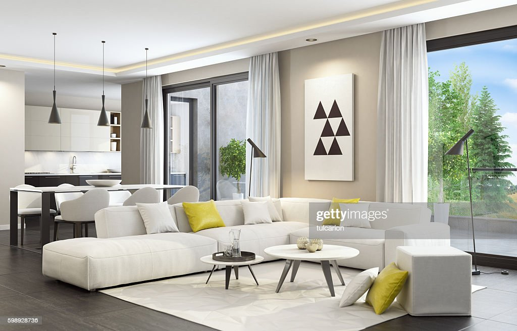 modern style living rooms. Fresh And Modern White Style Living Room Interior Stock Photo  Beautiful Pictures Home Design Ideas