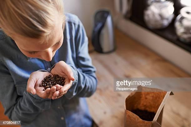 Fresh aroma of coffee beans