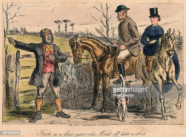 Fresh as a four year old Went off like a shot' 1865 From Mr Facey Romford's Hounds written by Robert Smith Surtees illustrated by John Leech and HK...