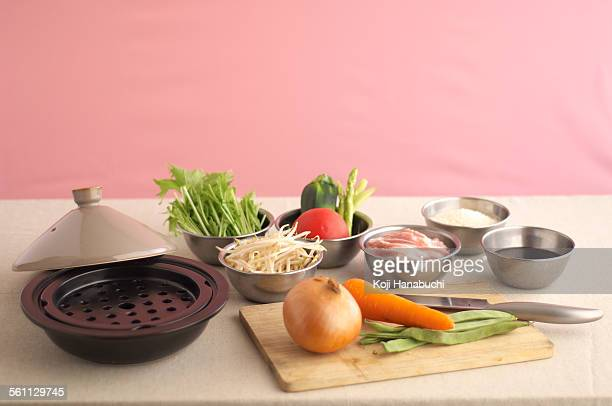 Food steamer stock photos and pictures getty images for Asian cuisine ingredients