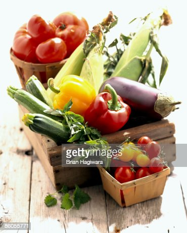 Fresh assortment of vegetables : Stock Photo