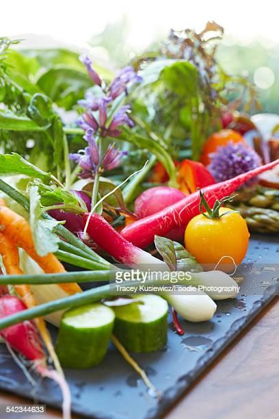 Fresh baby garden vegetables