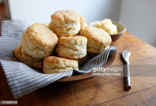 Fresh baked buttermilk biscuits are seen Tuesday April 28 2015 in Brunswick Maine