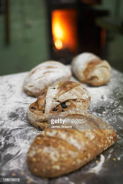 Fresh bread at the Convent Bakery, Abbotsford, Collingwood, Victoria, Australia