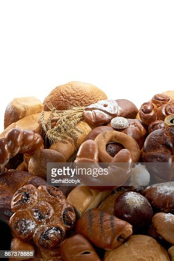 Fresh bread isolated on white : Stock Photo