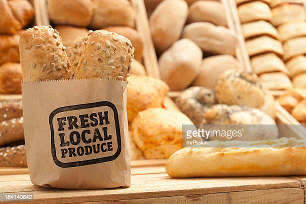 Fresh bread on counter top