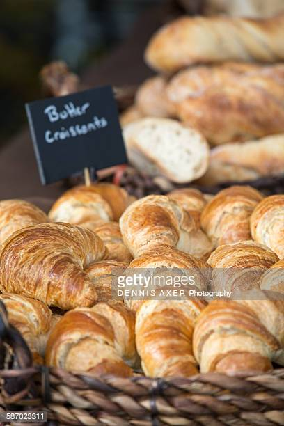 Fresh Butter Croissants at a farmers market