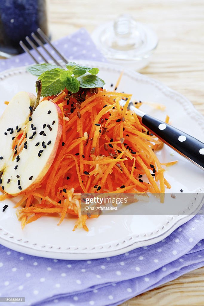 fresh carrot-Salat : Stock-Foto