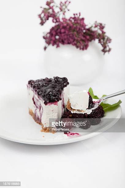 Fresca pastel de queso con frambuesa