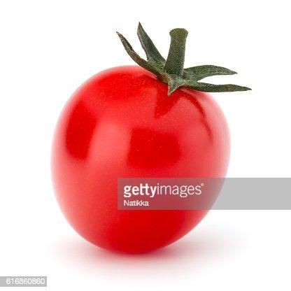 fresh cherry tomato isolated on white background cutout : Stock Photo