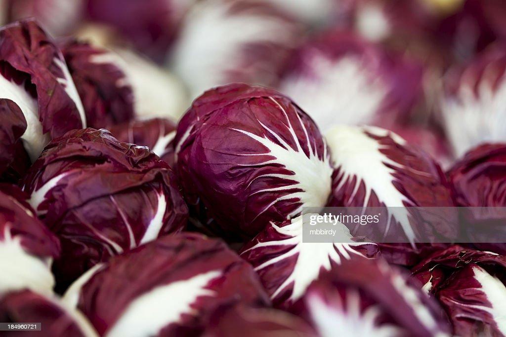 Fresh chicory on marketplace