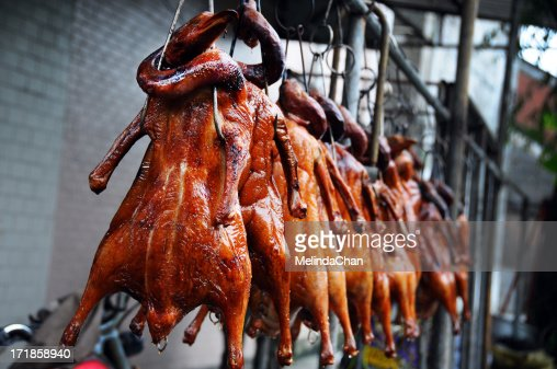 Fresh Chinese Roasted ducks : Stock Photo