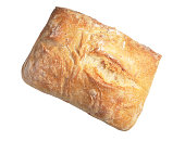 Ciabatta bread isolated on a white background
