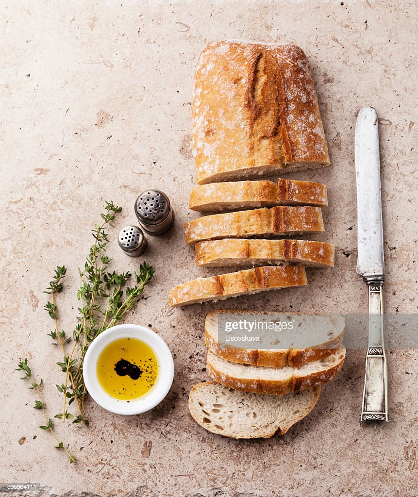 Fresh ciabatta : Stock Photo