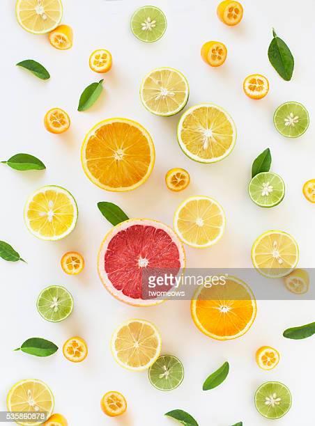 Fresh citrus fruit slice design pattern background.