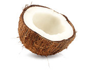fresh coconut isolated on a white background