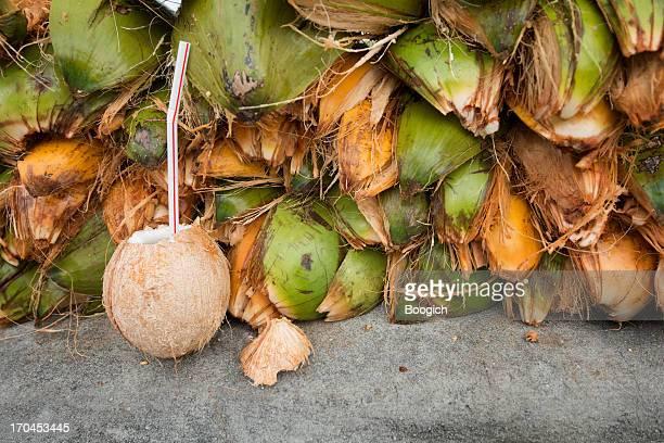 Frische Kokosnusswasser