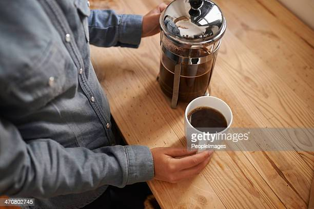 Fresh coffee in the morning