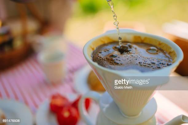 Fresh coffee in the morning.