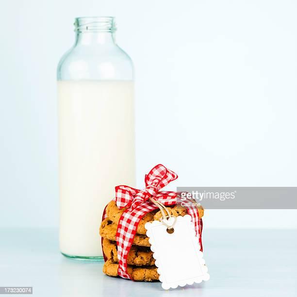 Fresca galletas y leche