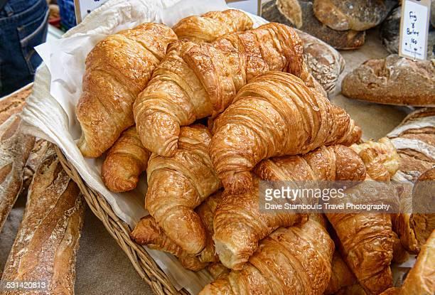 Fresh croissants for sale at a Farmers Market, Par