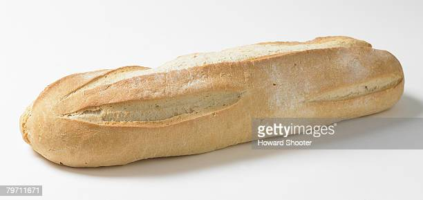 Fresh crusty bread, studio shot