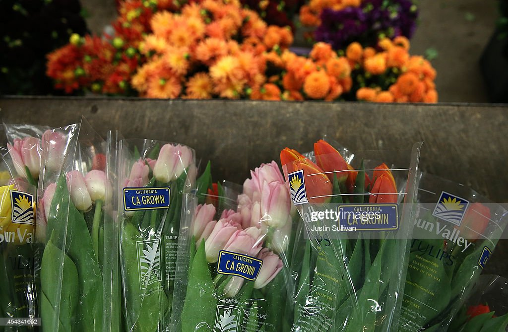 Fresh cut flowers sit on a cart at the San Francisco Flower Mart on August 29, 2014 in San Francisco, California. The future of more than 100 flower businesses at the historic San Francisco Flower Mart hangs in the balance as Los Angeles based realty group Kilroy Realty Corp. is planning on purchasing the Flower Mart property. Kilroy has proposed a plan to build a tech campus on the site.