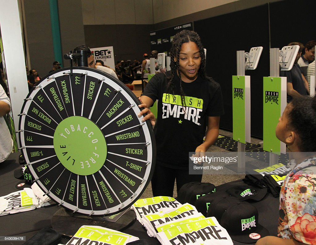 Fresh Empire vendor attends SneakerCon presented by Sprite, Rush Card, & FDA during the 2016 BET Experience at Los Angeles Convention Center on June 25, 2016 in Los Angeles, California.