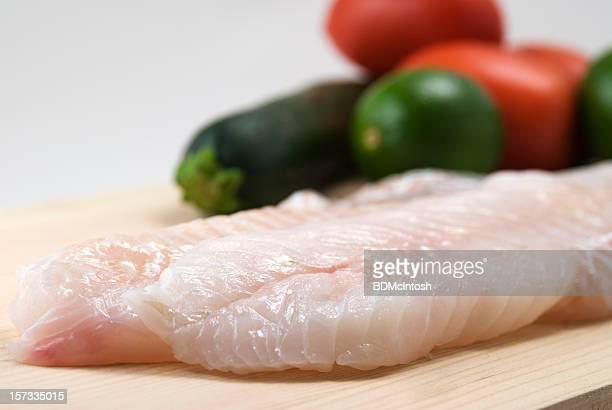 Fresh fish (cod) fillets