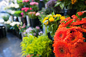 Fresh flowers at florist shop