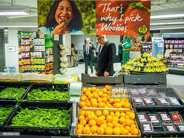 Fresh food inside Woolworths' Sydney Metcentre Store in Sydney as Woolworths revealed 500 jobs will go in back office and supply roles as part of an...