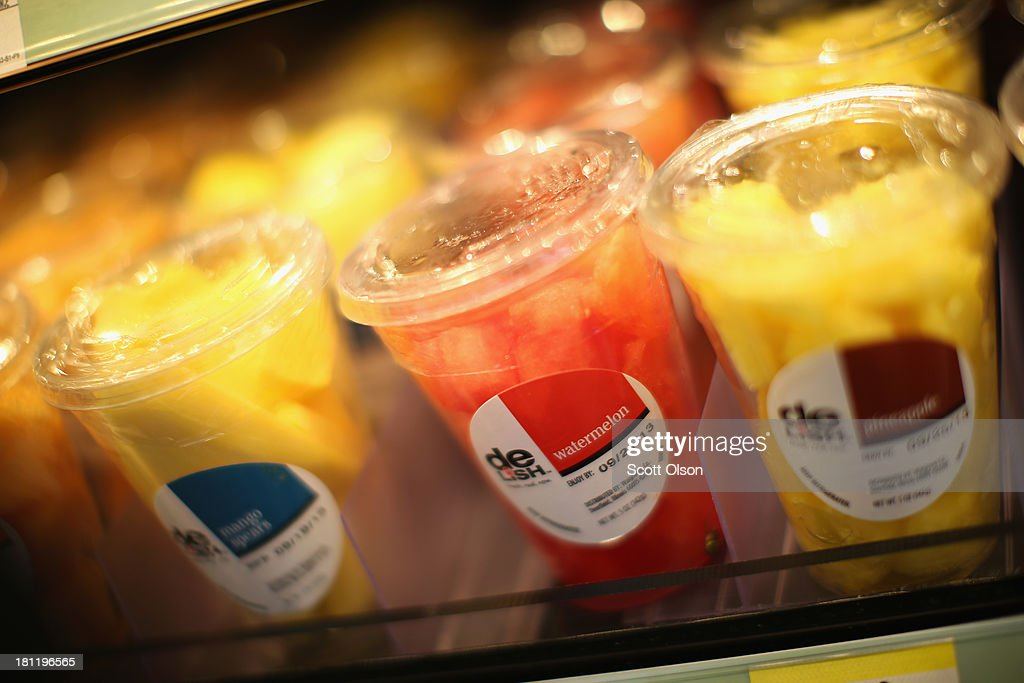Fresh fruit is offered for sale at a Walgreens store on September 19, 2013 in Wheeling, Illinois. Walgreens, the nation's largest drugstore chain, has been expanding the merchandise offerings at many of their stores to include fresh food and grocery items.