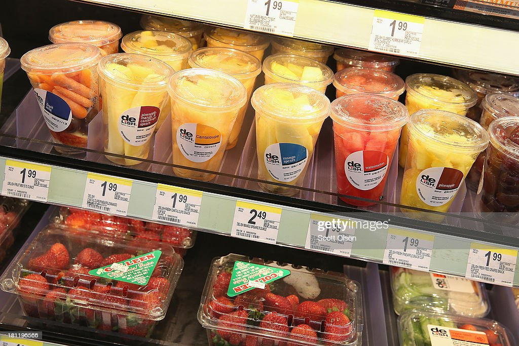 Fresh fruit is offered for sale at a Walgreens store on September 19, 2013 in Wheeling, Illinois. Walgreens, the nation's largest drugstore chain, has been expanding the merchandise offerings at many of their stores to include fresh food and other grocery items.