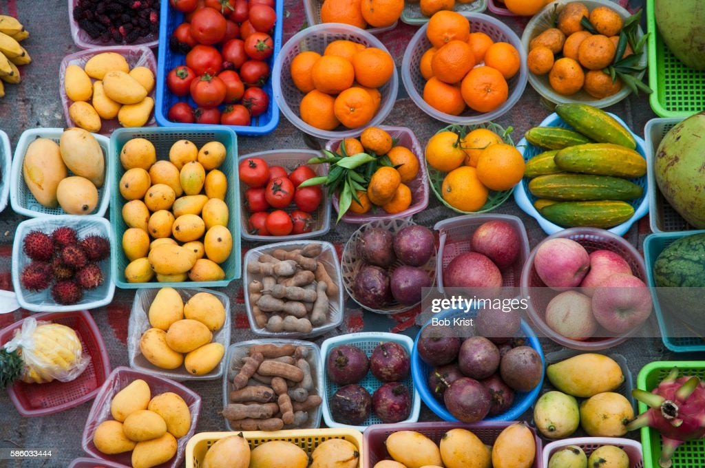 Fresh fruits and vegetables for sale