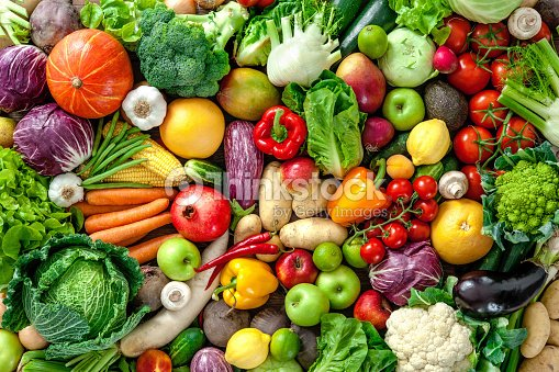 Fresh fruits and vegetables : Stock Photo