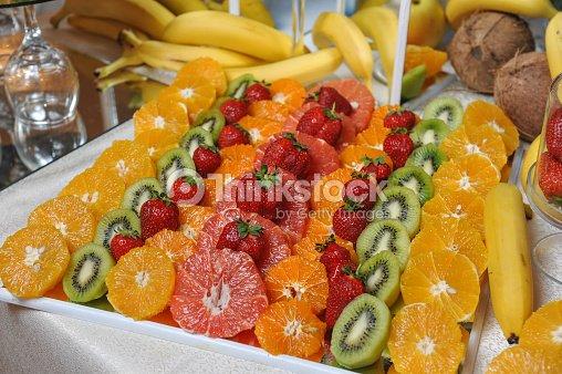 Fresh Fruits Decoration Stock Photo Thinkstock