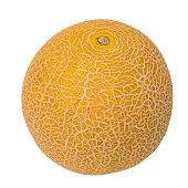Fresh galia melon isolated on a white background.