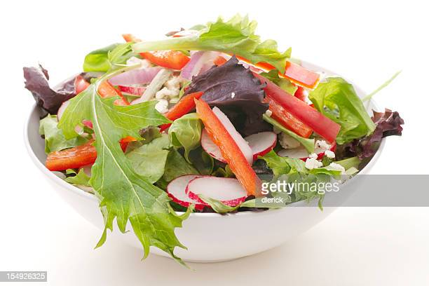 Fresh Garden Salad with Herbs, Vegetables, and Cheese
